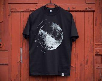 SFERA Men's T-shirt, Black & White Tee, Original Handprinted Design