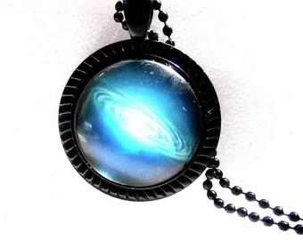 Necklace Galaxy necklace Galaxy Nebula space cabochon necklace