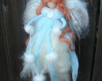 Wool Angel - Ethereal Winter Fairy Need Felted by Rebecca Varon- Angel-ornament Waldorf-inspired