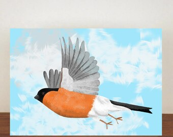 Bullfinch Card, Birthday Card, Greeting Card, Happy Birthday Card, Best Friend, Thank You Card, Cards, Just Because Card