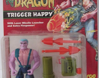 1993 Tyco Toys Double Dragon Trigger Happy Action Figure New In Unopened Package