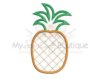 Pineapple Applique Design - Machine Embroidery Applique Design - 8 Sizes - Instant Download