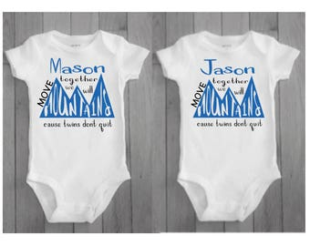 twin boys - twin baby boys - twin baby gifts - twin boy matching - twin boy gifts - new twin boys - twin boy baby shower gift - personalized