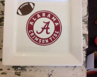 Personalized football plates