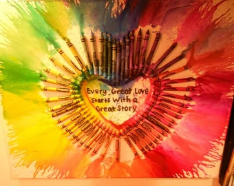 Crayon Art Canvas