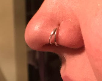Double nose ring