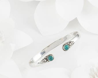 Cascabel Silver & Turquoise Bangle