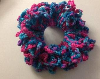 Crocheted Hair Scrunchy Handmade by Me :)