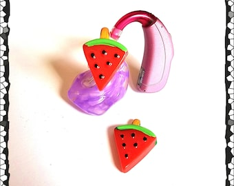 Hearing Aid Tube Trinkets:  Wonderful Watermelon Pops!  Please select quantity 2 for a pair!
