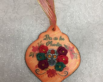 Day of the Dead personalized holiday ornament