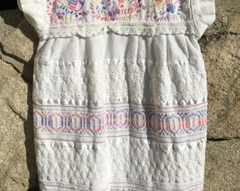 Lovely Mexican Cotton Girls Dress Tunic