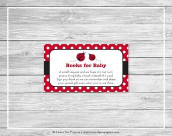 Ladybug Baby Shower Book Instead of Card Insert - Printable Baby Shower Books for Baby - Ladybug Baby Shower - Books for Baby - SP140
