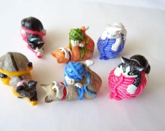 Miniature Cat Figurines Fairy Garden Accessories