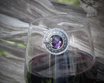 Purple Round Wine Glass Marker