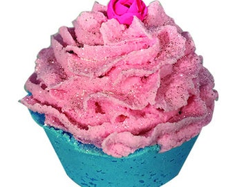 Madly in Love (Lavender Vanilla) Bath Bomb Cupcake with Bubble Bath Frosting