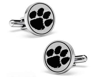 Clemson University Tigers Cuff Links | Sterling Silver | College Cufflinks | Custom Cufflinks | Officially Licensed