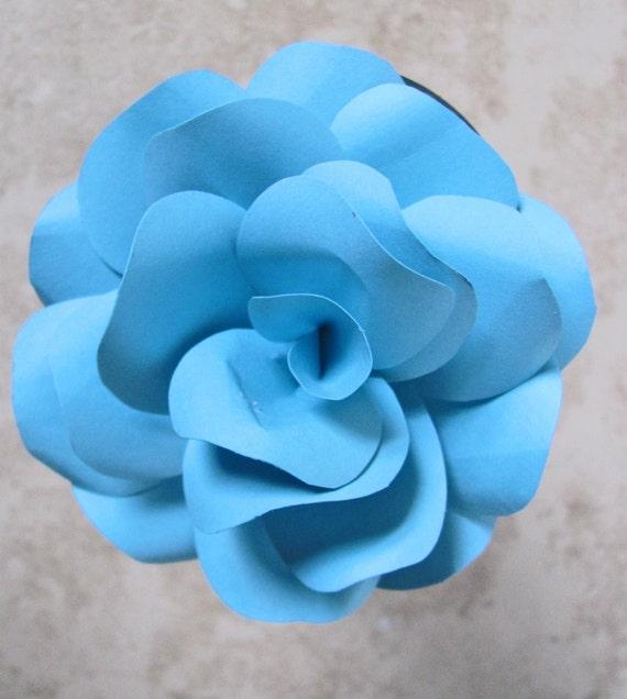 Aqua paper flower pen mightylinksfo