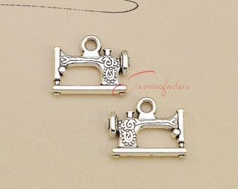 20PCS--20x15mm ,sewing machine Charms, Antique Silver 3D sewing machine Charm pendant, DIY supplies,Jewelry Making