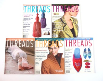 2002 Threads Magazines, No 99 to 104 with Index