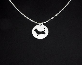 Basset Hound Necklace - Basset Hound Jewelry - Basset Hound Gift