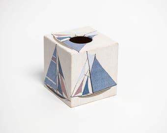 Tissue Box Cover Sailing design perfect in homes/ hotels handmade