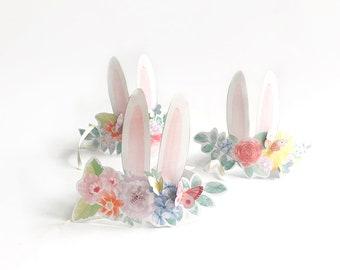bunny ears headband - bunny crown printable - some  bunny is one - bunny birthday party - digital download