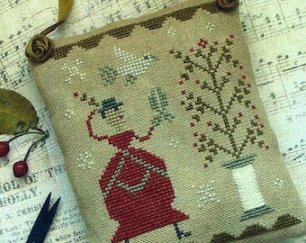 A Sprig of Holly by Pineberry Lane Counted Cross Stitch Pattern/Chart