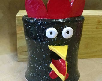 Black Speckled Rooster Egg Separator