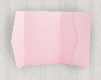 10 Horizontal Pocket Enclosures - Pink - DIY Invitations - Invitation Enclosures for Weddings and Other Events