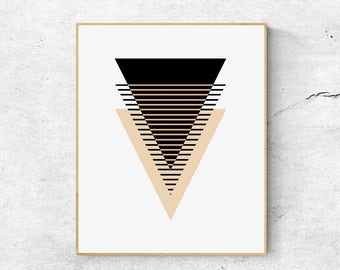 Scandinavian print, Geometric large wall art print, Abstract wall art printable, Geometric wall art, Scandinavian modern art, Geometric art