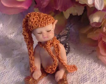 Baby Fairy Miniature Fairy, Clay Fairy, Sleeping Fairy, Fairy Art,Fairy Art, Tiny Fairy, Fairies, Fairy Doll, Fairy Sculpture, Pixie