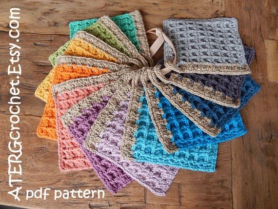 Crochet pattern POTHOLDER WAFFLE by ATERGcrochet