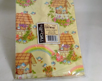 """Bridal Shower Gift Wrap/2 Sheets 20"""" By 30""""/By Buzza"""