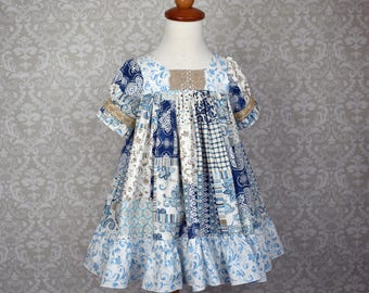 3t Ready to Ship!!  Easter Patchwork Dress, Girls toddler dress sizes