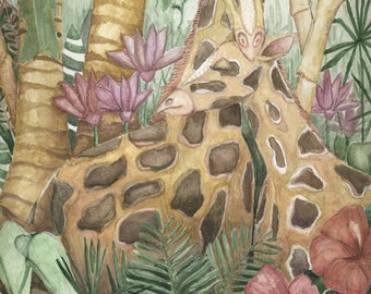 Giraffes Print