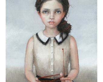 Child At Heart. Signed Print of an Original Oil Painting.