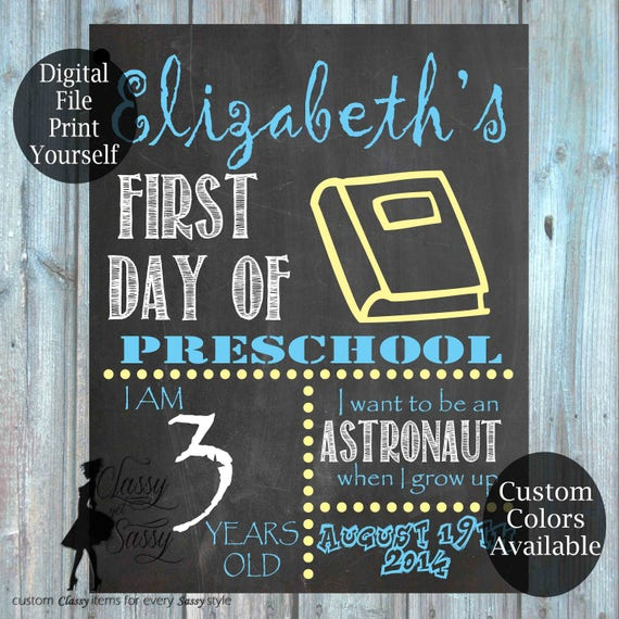 First Day Of School Chalkboard Sign 171