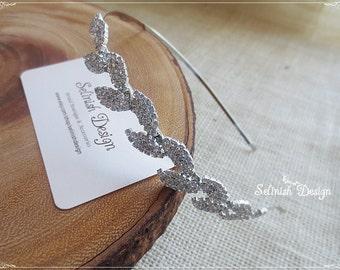 Leaves Headband, Wedding Headband, Rhinestone Leaf Headband, Bridal Headband, Wedding Headband, Women Headband- HB154leaves