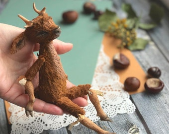 Hand made toys Deer Brown Mini Bjd Art Doll