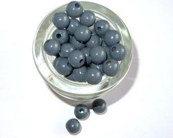 50 wooden beads grey 10 mm pacifier