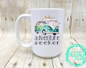 Adventure Seeker | Volkswagen Mug | VW Bus | VW Coffee Mug | Adventure Coffee Mug | Adventure | Volkswagen | VW | Road Trip Mug | Road Trip