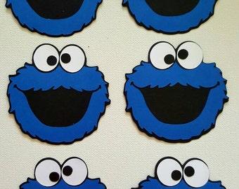 Cookie Monster Die Cut Set of 6
