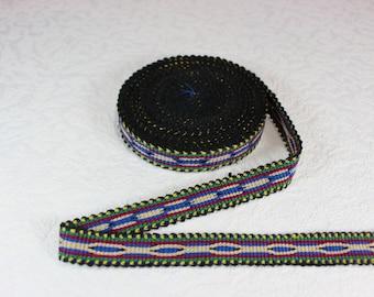 Woven Trim (6 yards), Woven Border, Cotton Ribbon, Grosgrain Ribbon, Dress Border, Border Trim, T28 (R161)