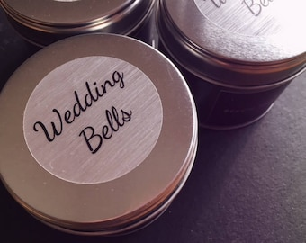 Wedding Bells, scented 100% soy candle