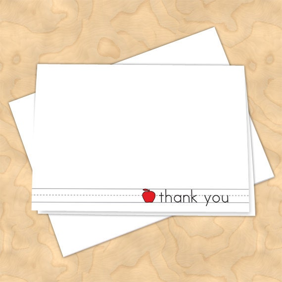 personalized notecards, thank you cards, teacher thank you cards, graduation thank you cards, 4x6 notecards, teacher appreciation, NC119