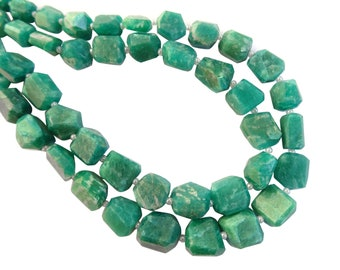 Amazonite Faceted Nuggets, Amazonite Step Cut Nuggets