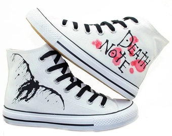 Death Note Cosplay Same Canvas Shoes Freehand Casual Shoes
