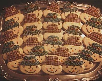 Scarecrow - Decorated Sugar Cookies - 1 Dozen