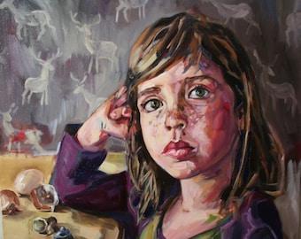 Original Oil Painting - Child/Imagination/Evangeline