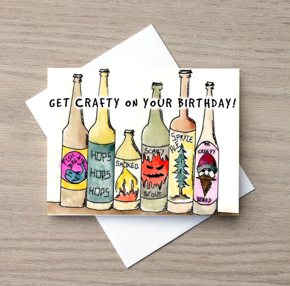 Birthday Card Funny Birthday Card Beer Card Craft Beer